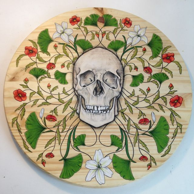 Skull and floral study