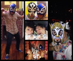 An evening of art and lucha